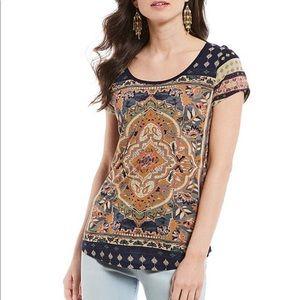 Lucky Brand Persian Carpet Graphic Short Sleeve